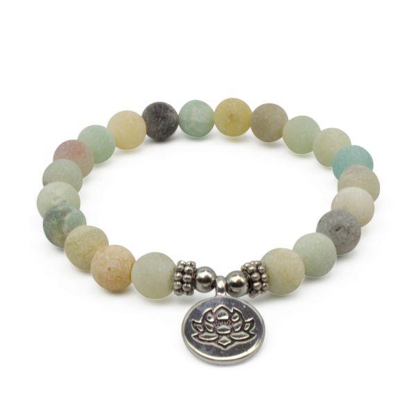 """Amazonit Mala Armband """"Lotus"""""""