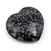 "Schneeflocken-Obsidian Herz ""Peerless"""