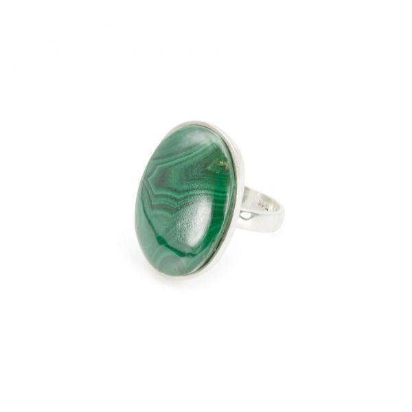 "Malachit Ring ""Selfless-Circle"""