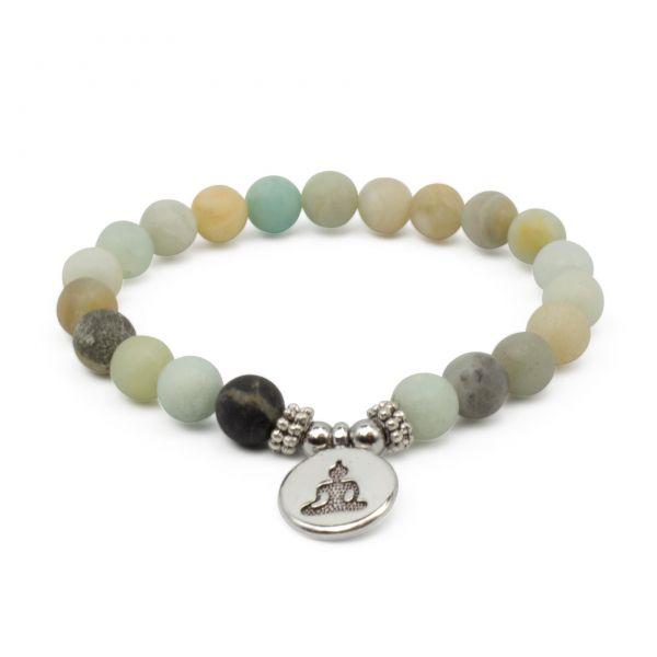 """Amazonit Mala Armband """"Buddha"""""""
