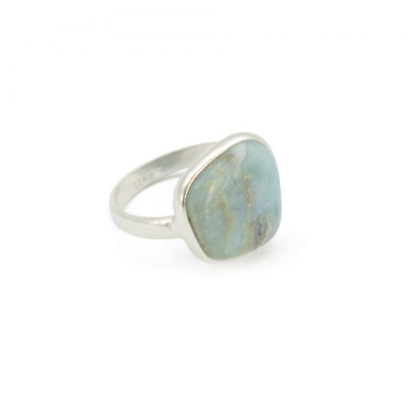"Larimar Ring ""Selflove-Circle"""