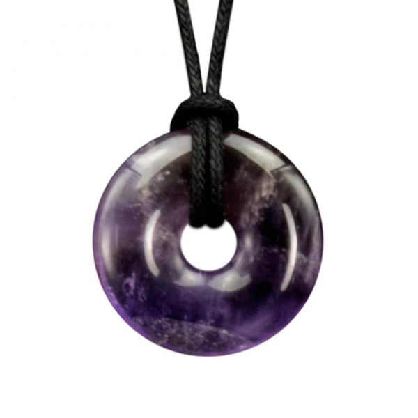 "Amethyst Donut Anhänger ""Lilac-Cycle"""