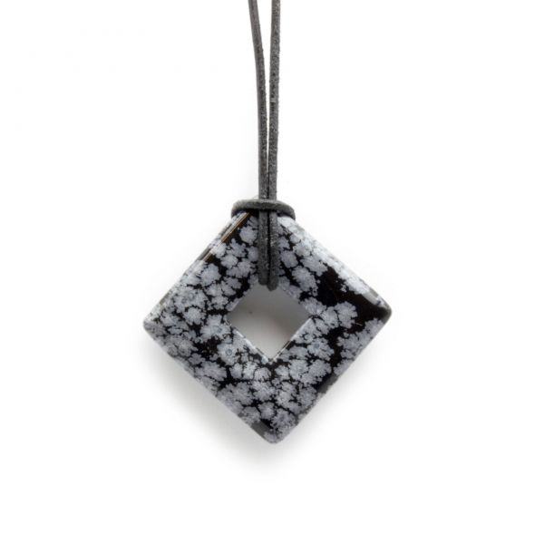 "Schneeflocken-Obsidian Anhänger ""Volcanic-Glass"""