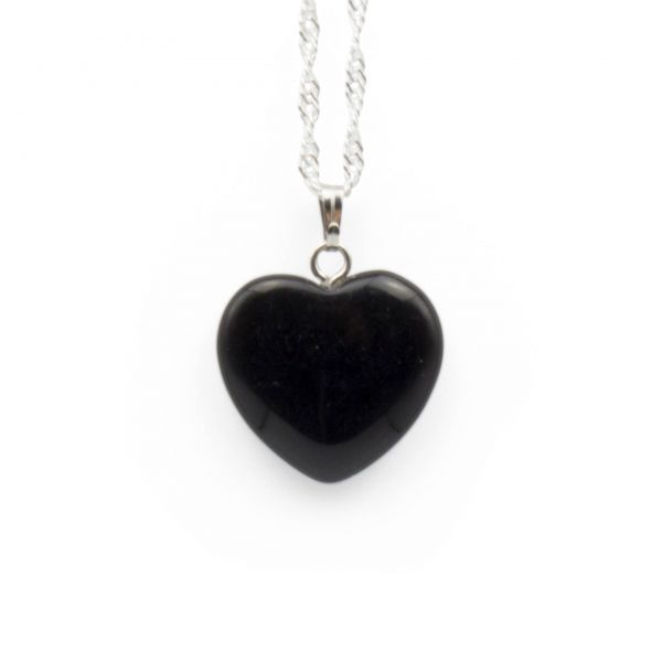 "Onyx Anhänger ""Black-Heart"""